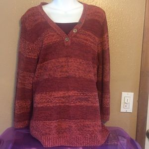 Christopher & Banks cotton blend sweater, XL